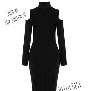 Nasty Gal Collection Black Long Sleeve Dress